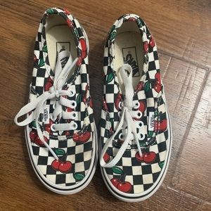 Cherry Checkers Vans off the wall sz 13 sneakers